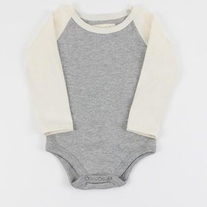 Mini Mioche Raglan Onesie - 0-3m (Canadian made)